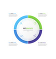 pie chart infographic template divided four vector image