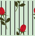 red rose background seamless pattern vector image
