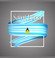 saint lucia flagofficial national 3d vector image vector image