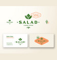 salad boutique abstract logo and business vector image