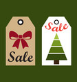 sale new year labels set with hole to hang on vector image