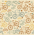 seamless vintage bicycles pattern vector image
