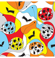 Seamless whimsical pattern with foxes vector image vector image