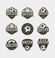 set football soccer logos sport emblems vector image