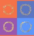 set four circle frames vector image vector image