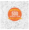 Set of 500 doodle icon vector image vector image