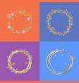 set of four circle frames vector image vector image