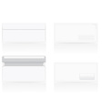 set of white blank envelopes 02 vector image