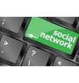 Social network keyboard key button Keyboard keys vector image vector image