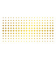 space star gold halftone array vector image vector image