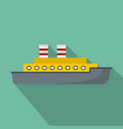 steamship icon flat style vector image