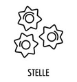 stelle pasta icon outline style vector image vector image