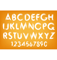 Summer alphabet typography set with numbers