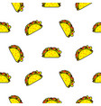 taco mexican food seamless pattern vector image vector image