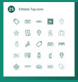 tag icons vector image vector image
