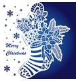 template for laser cutting christmas stocking vector image vector image