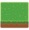 Texture for platformers pixel art - ground vector image vector image