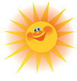 The stylized image of a smiling sun with rays vector image