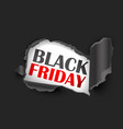 torn paper black friday sale vector image vector image
