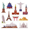 travel time with city landmark like eiffel tower vector image