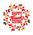 typography of thanksgiving vector image vector image