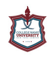 university college logo vector image vector image