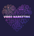 video marketing colored outline heart vector image vector image