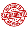 welcome to sacramento red stamp vector image vector image