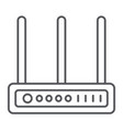 wifi router thin line icon network and connection vector image vector image