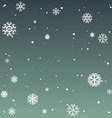 winter background with beautiful various vector image