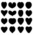 Black silhouettes of heart vector image