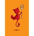 Halloween character cartoon Little Red Devil vector image