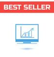 chart icon the symbol for your web site design or vector image