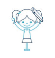 cute girl with book character icon vector image