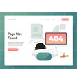 404 error page not found modern flat design vector image