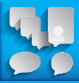 6 speech bubbles vector image