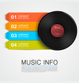 abstract music info vinyl disk vector image vector image