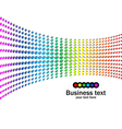 Abstract rainbow colours background vector image