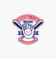 baseball logo badge-5 vector image vector image