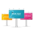 billboards screen template for text vector image vector image