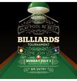 Billiards Poster vector image