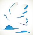 bird paper cut vector image vector image