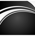 Black and white abstract corporate wavy background vector image vector image