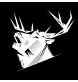 Black and white monochrome emblem symbol vector image