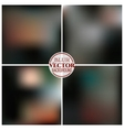 Blurred background set vector image