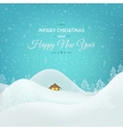 Christmas New Year card winter landscape vector image vector image