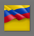 colombian patriotic festive background with flag vector image vector image