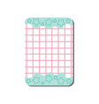 cute card with place for notes checkered template vector image vector image