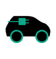 electric car energy vector image