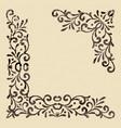 elegant vintage corners vector image vector image